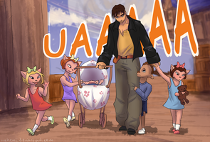 Jim Hawkins babysitting by Nahemii