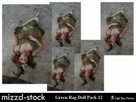 Green Rag Doll Pack 12 by mizzd-stock