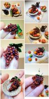 Miniature fruits 1:6 by Neko-Art