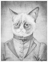 Victorian Grumpy Cat by M-Everham