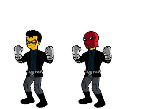 Red Hood simpsons version by deviant1290
