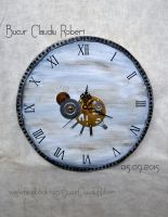 Steampunk wall clock - Robert Bucur by robytoxic