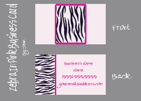 Zebra Business Card by jeaniem12