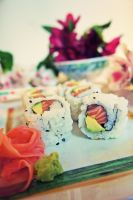 Japanese meal today by miseltoe