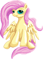 Fluttershy Page Doll by GlacialFalls
