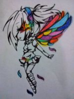 Rainbow Butterfly by Rainbow-fiedKitty