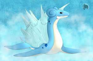 Fan Art: Mega Lapras X by DeviBrigard
