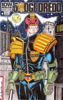 JudgeDredd25 Sketch Cover (available) by Bright-Raven