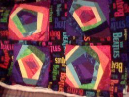 Rainbow Quilt Squares by setralynn