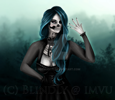 IMVU Avatar art: Skull girl 2.0 Premade by NotMarty