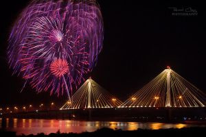 .:Clark Bridge Fireworks:. by RHCheng