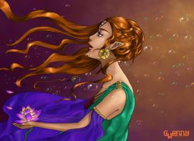 Water lily and me by Gwennys