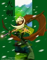Hiken the Flaming Blade by treager-sama
