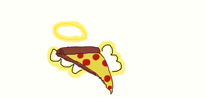 PIZZA THAT IS SORTA HOLY by karinbvc