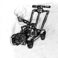 Steampunk Lawnmower by DisgruntledChimp