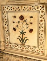 Floral mosaic - Red Fort, Delhi by wildplaces