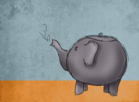 Teapot elephant doodle by Limerry