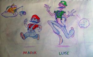 Maria and Luise Superstar Saga by Ryan-Cole