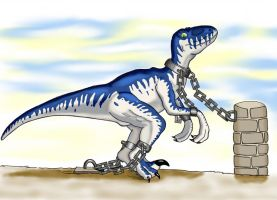A restrained Raptor by MrMinos
