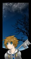 KHII: Sora with Stars by CandyGirlxD
