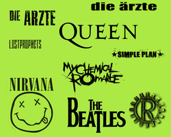 9 Band Logo Brushes by gutdesigns