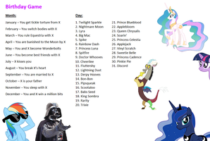 My Little Pony: FIM - Birthday Game by LunaBestPony