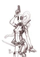 Daily Sketches Lady Deadpool by fedde