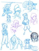 Korra and Avatar Doodles by RagingBarbarian