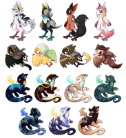 [YCH] Pixel Set 6 by dracooties