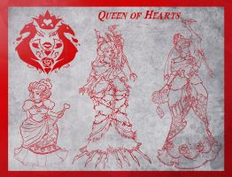 Faces of Queen of Hearts by wk-omittchi