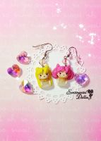 Sailor Moon Crystals Earrings by SentimentalDolliez