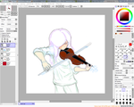 WIP- Violinist by chocolatewolf2000