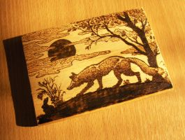 Fox pyrography by Meteormirage