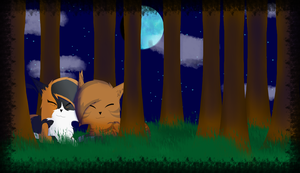 .:Tawnypelt and Rowanclaw:. by TaigaFrost