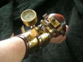 Heart Stopper Steampunk Bracer by Skinz-N-Hydez