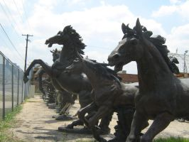 Yard of Statues by Neriah-stock