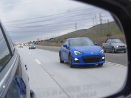 The future 2013 Subaru BRZ is in my mirror by Partywave