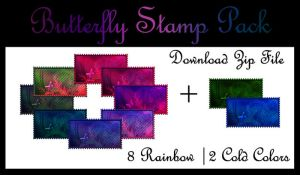 Butterfly Stamp Pack by 1Foxylady