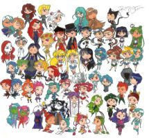 Sailor Moon Chibi Cast by Pokey57