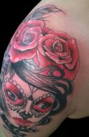 Mexican rose 2 by SupremeTattoo