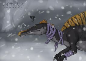 Spinosaurus Disapproves of Snow by SylxeriaGuardian