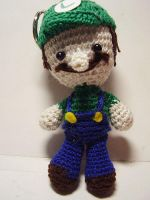 Super Mario Bros: Luigi Doll by Nissie