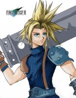 Final Fantasy VII Cloud by godaiking