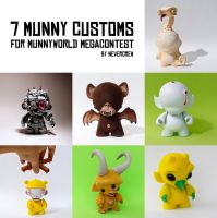 7 Munny customs by nevercrew