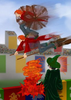 Fred and George- Quidditch by olafpriol