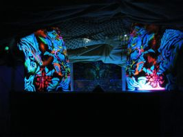 Electronic Virtual Psychedelia DJ Booth by Calcination