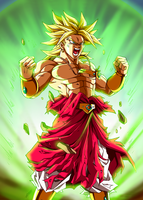 Broly rises up by Tomycase