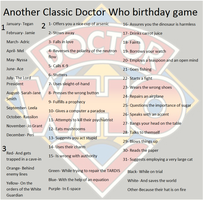 Another Classic Doctor Who birthday game by FlyingGuineaPig