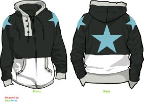 Black Star Fleece Cosplay Hoodie by Weeaboo-Warehouse