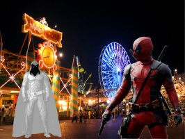 Deadpool Vs Moon Knight by Darth-Slayer